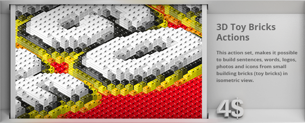 3D Toy Bricks Actions